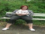 Amateurvideo gefingert auf der Parkbank von hexse68