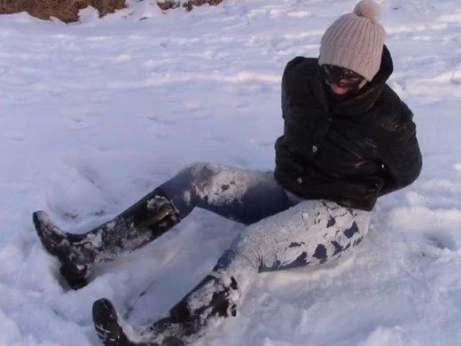 Schnee enge Jeans