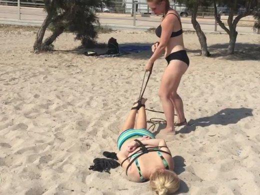 Hogtie at the beach