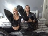 Amateurvideo Du leckst unsere Stiefel, Sklave! von PussyDeluxxxe